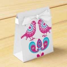 Zazzle's awesome selection of wedding favor boxes is sure to wow your guests. Teal Blue, Pink White, Paisley Flower, Wedding Favor Boxes, Bird Design, Love Is Sweet, Love Birds, Wedding Themes, Engagements