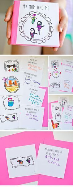 Free Printable Mothers Day Book | Easy Mothers Day Crafts for Kids to Make | DIY Birthday Gifts for Mom from Kids