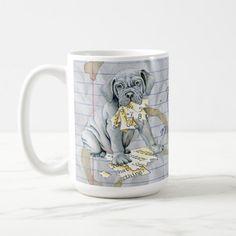My Mastino Ate My Lesson Plan Coffee Mug   gifts for the dog lover, tea cup pugs, top electronic gifts #christmasiscoming #puglife #christmas Pug Pillow, Pug Names, Neapolitan Mastiffs, Shetland Sheepdog Puppies, Back To School Gifts, Dog Eating, Electronic Gifts, Pug Life, Dog Design
