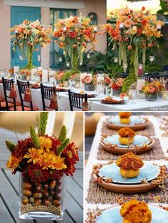 Fall Wedding Inspiration-floral arrangement?