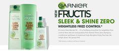 Get Free Garnier Fructis Sleek & Shine Zero Shampoo Samples! | Online Free Sample