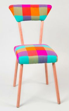 Rainbow colored chair