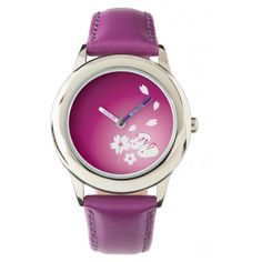 Japanese Snow Rabbits and Sakura Purple Wristwatch #snowrabbits #cherryblossoms