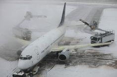 Winter travel delays...magazines and headphones?
