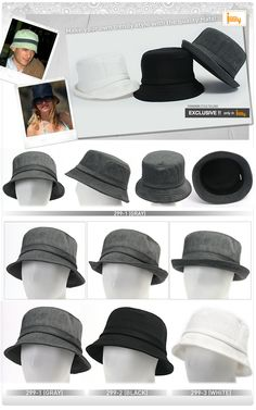 Image detail for -New Vintage Mens Bucket Hats Trilby Fedora Unisex Caps  ffd2ace5f670