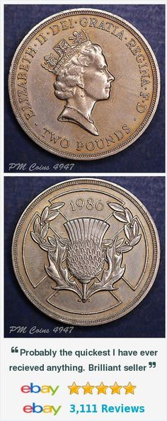 1986 Elizabeth II QEII £2 Two Pound Commonwealth Games coin [lot4947] http://m.ebay.co.uk/itm/371610987187?_mwBanner=1