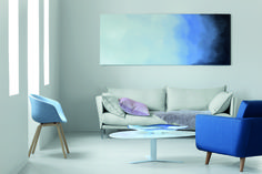"""Calm & contemporary, this living room as been inspired by the colour story """"Anonymous"""" from our """"Colour Forecast Plascon Paint Colours, Wall Colors, Paint Colors, Colour Story, Love Seat, Room Decor, Contemporary, Living Room, Interior Design"""