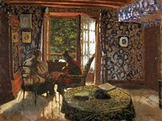 Edouard Vuillard - Interior (Madame Vuillard and Grandmother Roussel at L'Étang-la-Ville) 1900-01