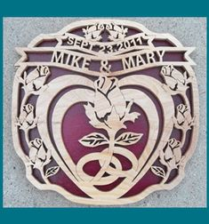 Scroll Saw Patterns :: Special occasions :: Wedding :: Wedding heart -