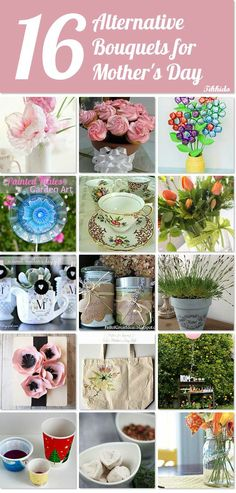 Are you looking for some great alternatives to traditional flower bouquets for Mom?  If you are then these 16 alternative bouquets for Mother's Day are just what you need.