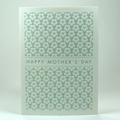 Mother's Day Letterpress Card by letterpress on Etsy Happy Mother's Day Card, Happy Mothers Day, Shape Patterns, Color Patterns, Calligraphy Paper, Box Studio, I Love You Mom, Typography, Lettering