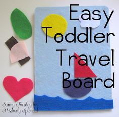Felt Toddler Travel Board - Simple and inexpensive to make - this felt craft is sure to become your new best friend!