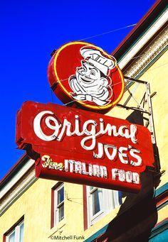 Vintage Original Joe's Sign In The Tenderloin, San Francisco By Mitchell Funk   www.mitchellfunk.com