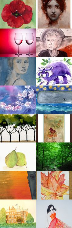 A Celebration of Art and Colour by Helen on Etsy--Pinned with TreasuryPin.com