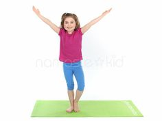 Kids learn Tree Pose (Vriksasana). Visit our Kids Yoga Pose library to explore more kids yoga exercises and yoga poses for children, preschoolers, and toddlers.