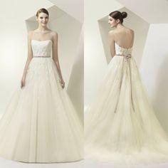 Hot Selling Sexy Cheap Sweetheart  Appliques Sleeveless Lace Up Empire Organza Ball Gwon Wedding Dress Free Shipping Custom Hot