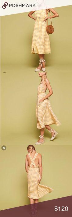 58bd0e229e NWT Reformation Capoli Dress in Zest Linen Gingham