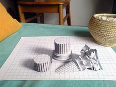 3D Art on paper