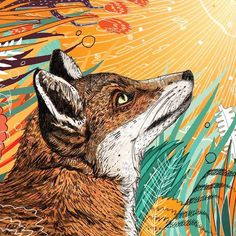 Happy Thursday from Sandra Dieckmann HQ ;-) #love #fox #illustration (at Studio Mama Wolf)