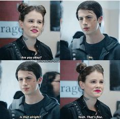 Clay Jensen and Skye. I love how honest this scene is, and it's okay...--jr