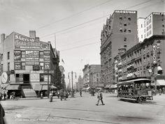 Main St in Buffalo, NY circa 1900.