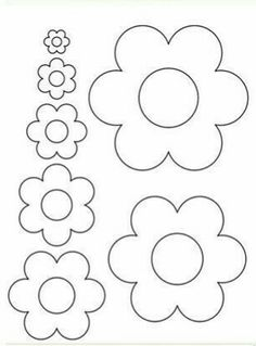 flowers - flowers Best Picture For crafts for teenagers For Your Taste You are looking for something, and i - Paper Flower Art, Flower Svg, Flower Crafts, Diy Flowers, Paper Flowers, Felt Flowers Patterns, Felt Crafts Patterns, Applique Patterns, Felt Flower Template