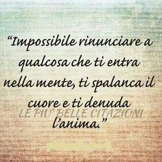 Impossibile rinunciare