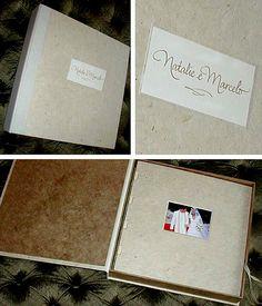 Álbum Natalie | Álbum e caixa forrados de papel artesanal ne… | Flickr
