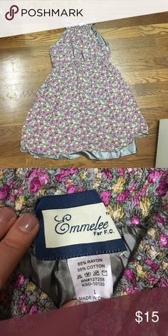 Adorable floral dress Purchased on Poshmark but it didn't work for me. Silk lining and with pockets! Originally from Francesca's- EUC! Perfect for any season. Francesca's Collections Dresses Mini