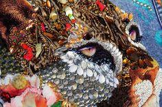 Denim jacket hand embroidery American cougar designer print | Etsy