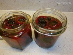 Zavárané feferónky plnené hrozienkami (fotorecept) - Recept Mason Jars, Mason Jar, Glass Jars, Jars