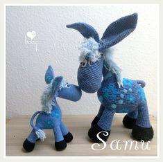 Ravelry: Samu the donkey - ADDON pattern by Bogi Gyuris Crochet Horse, Crochet Boots, Crochet Animals, Crochet Lace, Ravelry, Crochet Amigurumi, The Donkey, Zebras, Snuggles