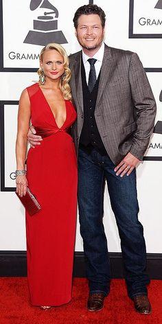 Miranda Lambert and Blake Shelton @ 2014 Grammy's