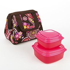 Fit & Fresh Kids' Riley Lunch Bag Kit with Sandwich & Side Containers (Spring Paisley)