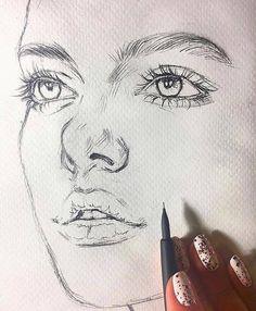 Sanat Çizimleri Sanat çizimleri woman flogged for wearing trousers - Woman Trousers Pencil Art Drawings, Realistic Drawings, Art Drawings Sketches, Easy Drawings, Sketch Art, Drawing Drawing, Drawing Tips, Drawing Faces, Drawing Techniques