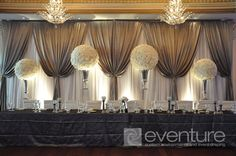 wedding backdrops for a tent | backdrops backdrops ceiling canopies mahitza chuppa room wall liners ...