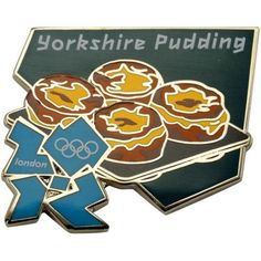 London 2012 Olympics Yorkshire Pudding Icon Pin - $.99