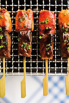 Surf and Turf Skewers - http://domino.com/fab-fete/image/556f6bb521eb45c6453c806c