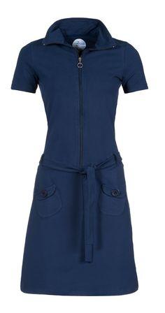 Zendee sportief stoer retro jersey jurk