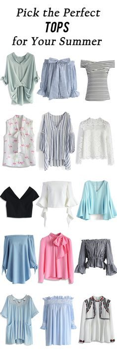 Pick the perfect tops for your summer http://chicwish.com
