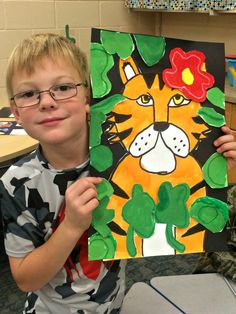 2nd grade Tigers. Harrisburg Tigers! Plus it teaches overlapping and painting skills.