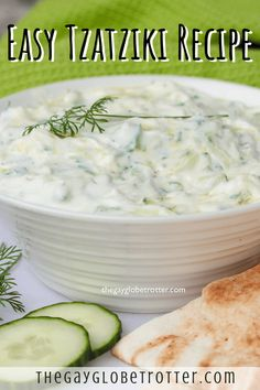 Decrease the garlic! This authentic Greek tzatziki recipe is easy to make and pairs perfectly with just about any dipper! I love using homemade tzatziki sauce to dip pita bread, veggies, or added to Greek gyros! Tzatziki Sauce Recipe Greek Yogurt, Tzatziki Recipes, Homemade Tzatziki Sauce, Pita Recipes, Greek Yogurt Recipes, Sauce Recipes, Cooking Recipes, Healthy Recipes, Homemade Pita Bread