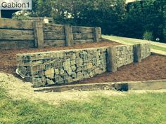 Wall at lower level with basalt stone to match pool wall.