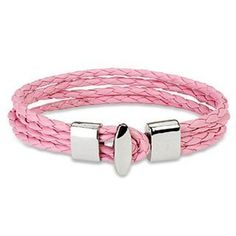 "Pink 4 String Braided Leather Bracelet Wristband K71 blue palm jewerly. $13.99. 7.87"" length. .59"" width. leather bracelet. T-Bar Closure"
