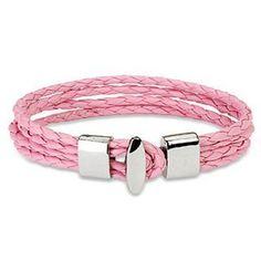 "Pink 4 String Braided Leather Bracelet Wristband K71 blue palm jewerly. $13.99. .59"" width. leather bracelet. 7.87"" length. T-Bar Closure"