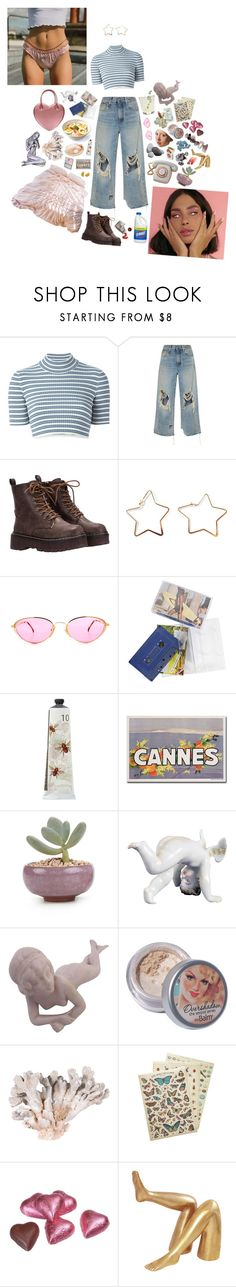 """""""14/100 - And honey, you're the lime of my coke"""" by pentax ❤ liked on Polyvore featuring Alessandra Rich, R13, TokyoMilk, TheBalm, Delfina, Cavallini & Co. and Kelly Wearstler"""