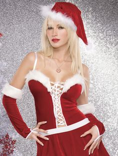 Velvet & Marabou Santa Hat - #christmas #santa #sexy #sexysanta #noel #xmas #party #whitechristmas #fancydress #costume #fancydresscostume #sparklingstrawberry