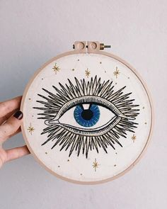 Hand Embroidery Patterns, Diy Embroidery, Cross Stitch Embroidery, Cross Stitch Patterns, Bijoux Diy, Needlework, Creations, Evil Eye Art, Sewing