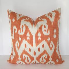 Decorative Designer Ikat Pillow Cover By Loubella1 - eclectic - pillows - Etsy
