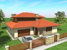 - Családi ház - Aszód House Design Pictures, Modern House Design, Exterior House Colors, Exterior Design, Clarendon Homes, African House, Glass Brick, Architect House, Cabin Homes